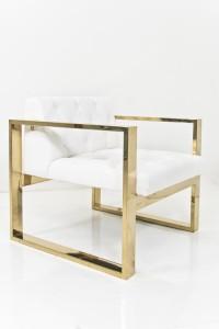 brass kube chair