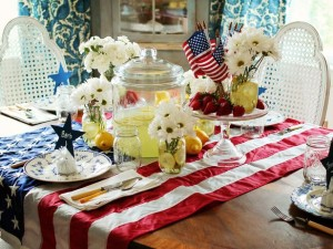 4th of July Table setting from HGTV