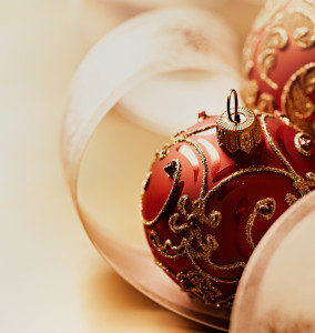 holiday decorating Christmas ornaments