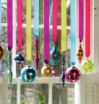 Hanging ornament Holiday Decorations Ribon Window Christmas Decorating