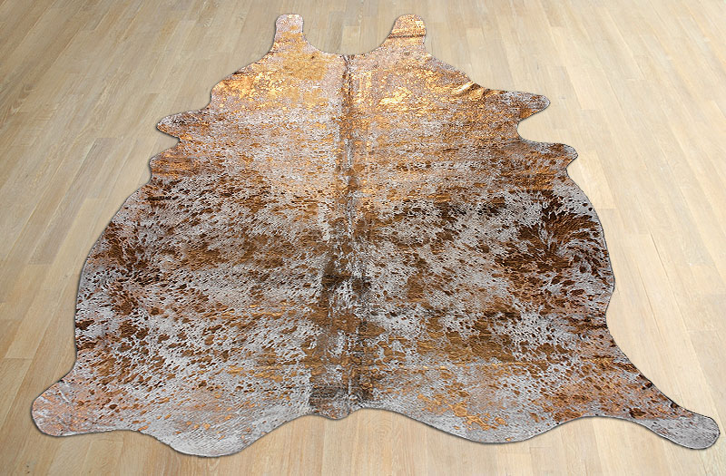 Cowhide Rug Metallic