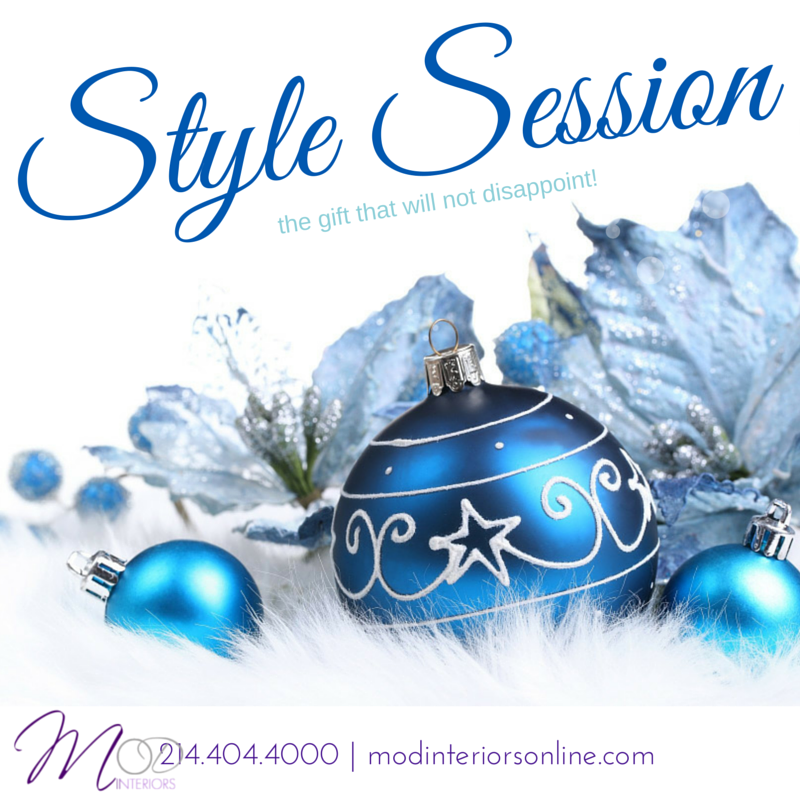 Style Session MOD Interiors Colleyville Chistmas Gift Hoilday Gift