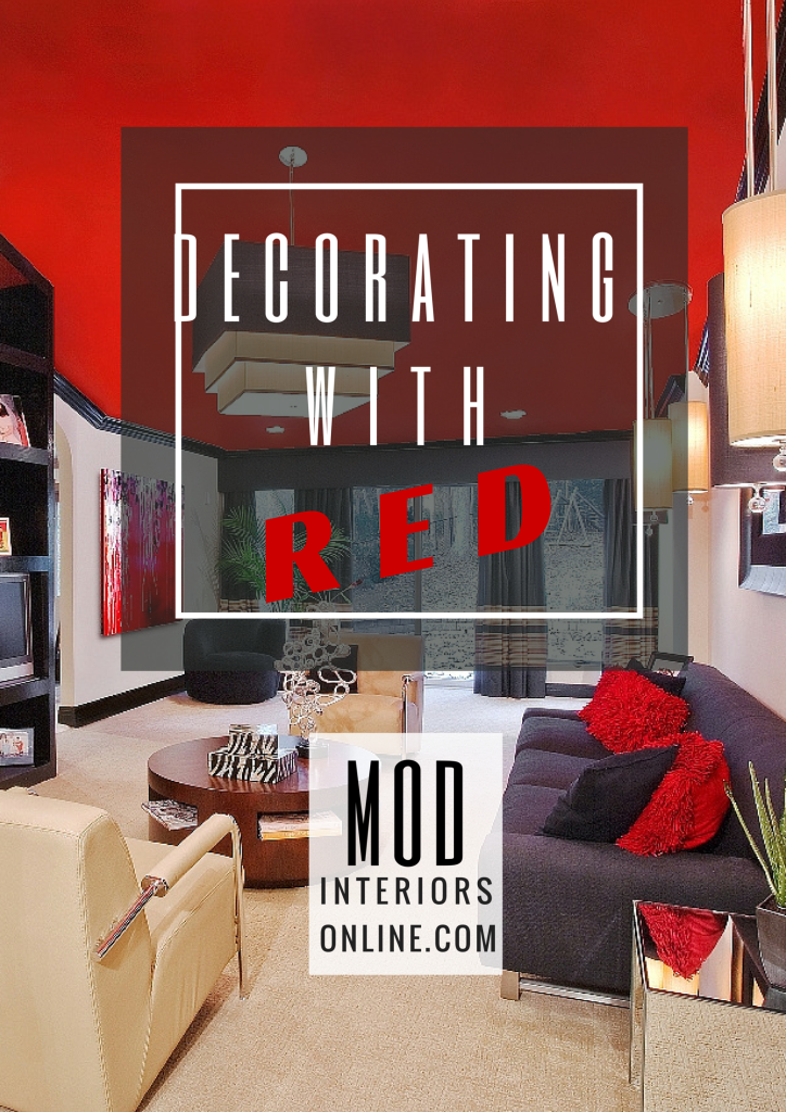 How to use the color red in your decor