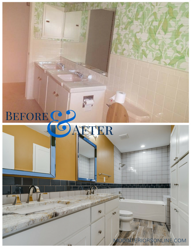 before-and-after-remodeling-kitchen-bath-photos-glass-tile-mirror-faucet-granite-orange-modinteriorsonline.com-colleyville-texas-interiordesign - picture