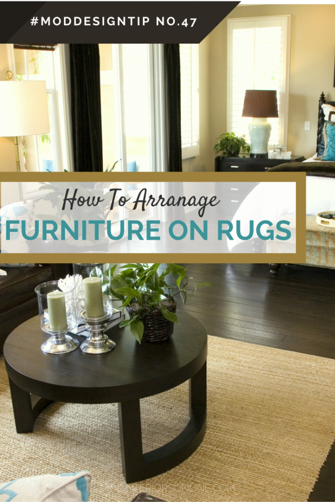How-to arrange your furniture, in master bedroom seating area with rug and leather chair