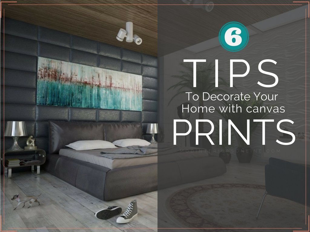 How To Decorate your home with canvas prints | Decorating on ...