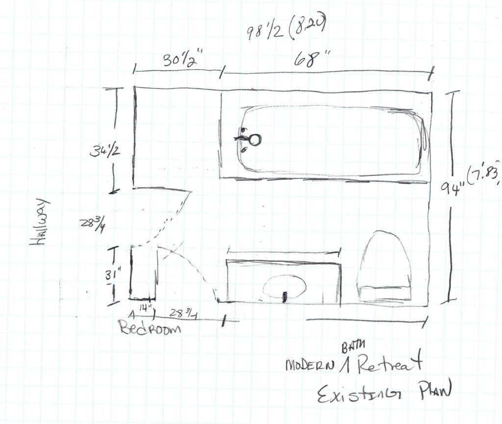bathroom, floor plan, remodel,