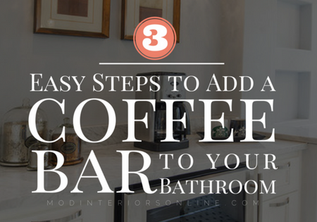 Coffee Bar Added to master bathroom in Grapevine
