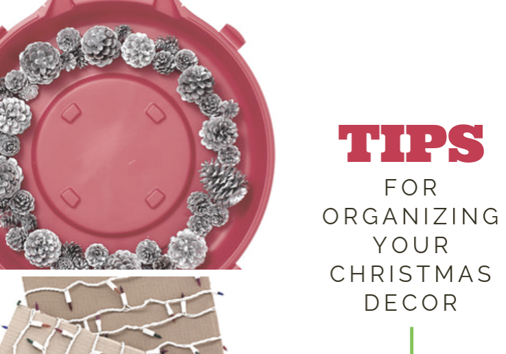 holiday,decor,organizing, decorating, storage,christnas, wreath,clear,bin, with,red,lids - Copy